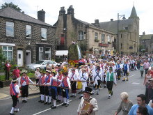 Saddleworth, Saddleworth Rushcart Festival in Uppermill, Lancashire © Paul Anderson